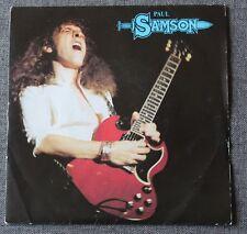 Paul Samson, no turning back / reach out to love, SP - 45 tours vinyl bleu