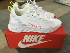 Nike blanco y Lazer reaccionar elemento 55 UK10 Para Hombre Zapatillas Para Correr Edición Limitada