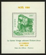 Rwanda 1207 MNH Christmas, Art, Virgin & Child, Correggio