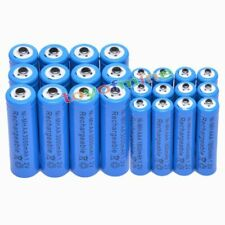 12 AA Blue 3000mAh + 12 AAA Blue 1800mAh NiMH Rechargeable Battery RC MP3 Clock