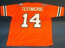 VINNY TESTAVERDE CUSTOM UNIVERSITY OF MIAMI HURRICANES JERSEY THE U HEISMAN