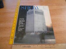 SHOW magazine of Performing arts 1964 bursesque SEX new museum in Manhattan