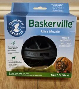 Baskerville Ultra Muzzle, Black, Size 4