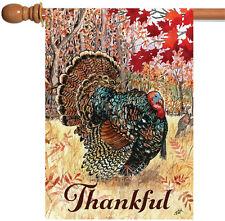 Toland Wild Turkey 28 x 40 Fall Autumn Bird Thankful Thanksgiving House Flag