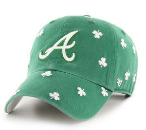 Atlanta Braves MLB St. Patrick's Day Tourist Clean Up Adjustable Hat Cap Pattys