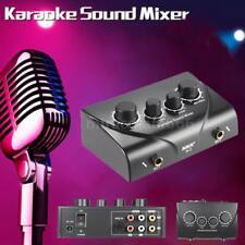 Karaoke Echo Mixer Machine Song Player Sound Speaker 2 Microphone System for KTV