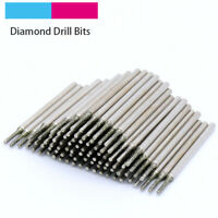 10pcs x 0.4mm-3mm silver Diamond Coated Glass Tile Jewellery Drill Bits US