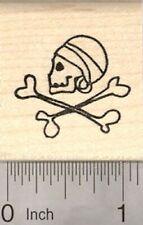 Pirate Emblem Rubber Stamp, Skull and Cross Bones D21317 WM