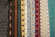 "16 CIVIL WAR REPRODUCTION QUILT FABRIC FAT QUARTERS (18 X 22"") BY MARCUS"