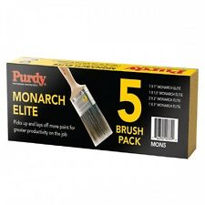 """Purdy XL Monarch Elite Synthetic Bristle Paint Brush Set MON5 1x1"""",1.5"""", 3"""",2x2"""""""