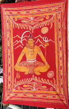 Shiva Batik Fait à la main Tenture ethnique Couvre-lit Ganesha Boho Inde Népal S