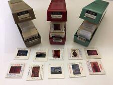 (415) Photo Picture Slides (3) Kodak Cases Vintage 60's Greece Italy France