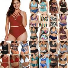 Womens High Waist Bikini Set Padded Swimwear Swimsuit Swimming Costume Plus Size