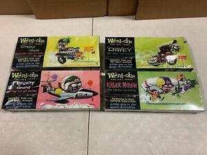 Weird-Ohs Car-Icky-Tures Model Kits 4 Kit Bundle Drag Hag Davey #E151