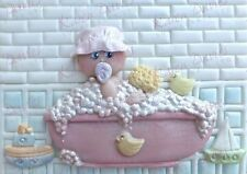 Karen Davies Baby in a Bath Sugarcraft Mould christening cake NEXT DAY DESPATCH