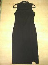 Joseph Ribkoff Designer Dress Vintage Black Curvy Stretch Knit Sleeveless Slit 8