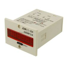 New JDM11-6H 6 Digits Display Electronic Counter Relay Control AC 110V