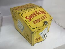 VINTAGE ADVERTISING SWEET CUBA STORE BIN COUNTER  TOBACCO CANISTER  TIN 407-Y