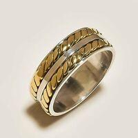 Solid 925 Sterling Silver Spinner Ring Meditation Statement Ring V1017