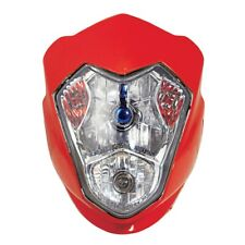 MOTORCYCLE AURA UNIVERSAL FAIRING HEADLIGHT WITH INDICATORS STREETFIGHTER RED