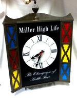 Miller beer sign high Life LRG motion spinning lighted 3 sided clock bar light