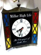 Miller beer sign high Life Lrg motion spinning lighted 3 sided clock bar light