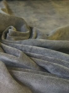 Dark Grey Velvet plush heavy soft upholstery curtain cushion sofa caravan fabric