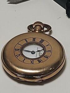 Waltham 'Traveler' Gold Plated Half Hunter Pocket Watch