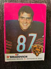 1969 Topps #95 Ed O'Bradovich Chicago Bears Football Card