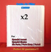 x2 C35660 CABIN AIR FILTER for HYUNDAI Accent Elantra / KIA Forte CAF1846P 49377
