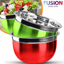 Mixing Bowl Stainless Steel Kitchen Serving Bowls Food Salad Baking Flat Base