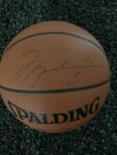 Michael Jordan Signed Spalding Basketball Chicago Bulls Autograph Full JSA COA