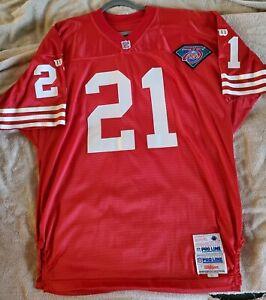 San Francisco 49ers deion sanders wilson jersey 75th anniversary vintage vtg 52