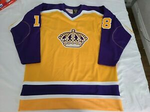 Mitchell Ness M&N Los Angeles Kings Dave Taylor Authentic Jersey 52 2XL XXL RARE