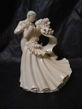 "Wedding Cake Topper Bride And Groom Dancing Hard Plastic 5.5"""