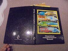 Catalogue Adaptations Complémentaires Renault 1988 Pompier Camping Car Magasin