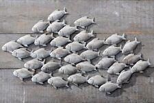 Wandbild Fischschwarm aus Eisen in Grau 97cm Fisch Bild Fischbild Neu