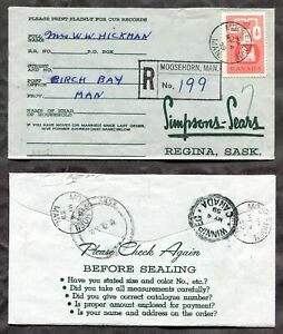 MOOSEHORN Manitoba 1959 Registered Cover. 25c Chemical Industries  (p1822)