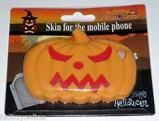 Orange Halloween Pumpkin Design (B) Soft Silicone Case For Apple iPHONE 4G / 4S