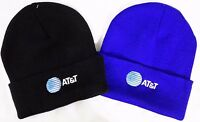 AT&T EMPLOYEE UNIFORM Knit Beanie Winter Hat Toque Skull Cap LOGO EMBROIDERED