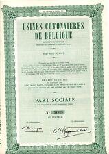 USINES DE COTONNIERES DE BELGIQUE