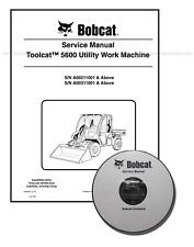 Bobcat Toolcat 5600 Utility Work Machine Workshop Service Manual CD + DL 6904209