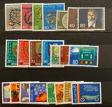 Switzerland Stamps 1980 Complete set MNH plus all FDC