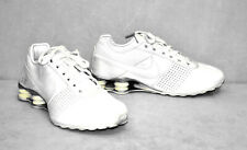 B2 Auth NIKE SHOX Mens White Leather Deliver Running Shoes 317547-111 Size 9