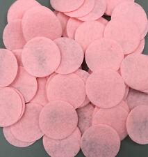NEW 100X Beautiful Pink Die Cut Felt Circle Appliques Cardmaking decoration 35mm