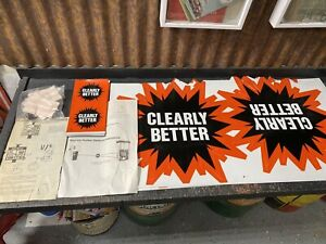 """Amoco Gasoline """"Clearly Better NOS Magnetic/Plastic Ad Signs Hardware/Directions"""