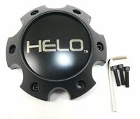 Helo Satin Black Wheel Center Hub Cap Bolt-On 6x5.5 6x139.7 HE879 HE904 HE878