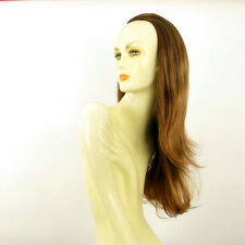 DT Half wig HairPiece long coppery brown poly mesh light blonde 24.4 :13/6bt27b