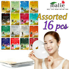 Malie Mask Sheet Essence Whole 16pcs Assorted Daily Care Moisturizing Skin Taut