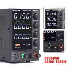 60v 5a Adjustable Dc Power Supply Precision Variable Dual Digital Lab Test Led